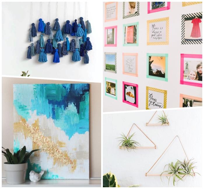 Vari addobbi per muri, piante appese alla parete