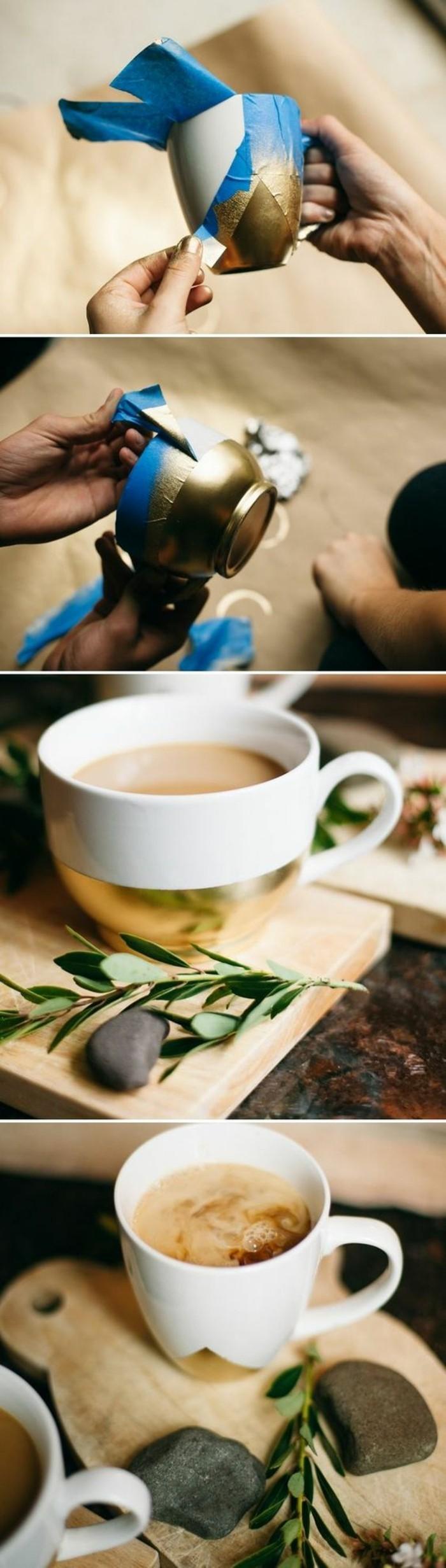 Decorazioni tazza da caffè. tutorial decorazioni con colori, pensierini carini