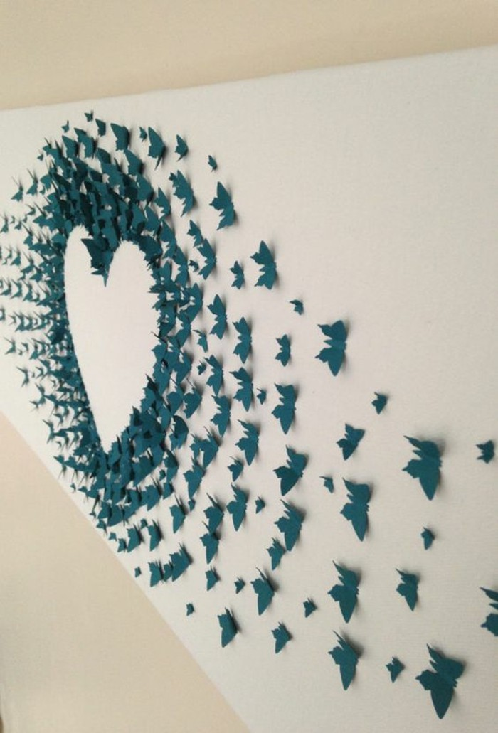 Decorazioni da parete, origami di carta, farfalle di carta