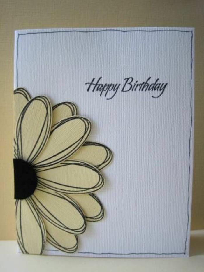 Bigliettino con fiori, fiori di carta, scritta in inglese
