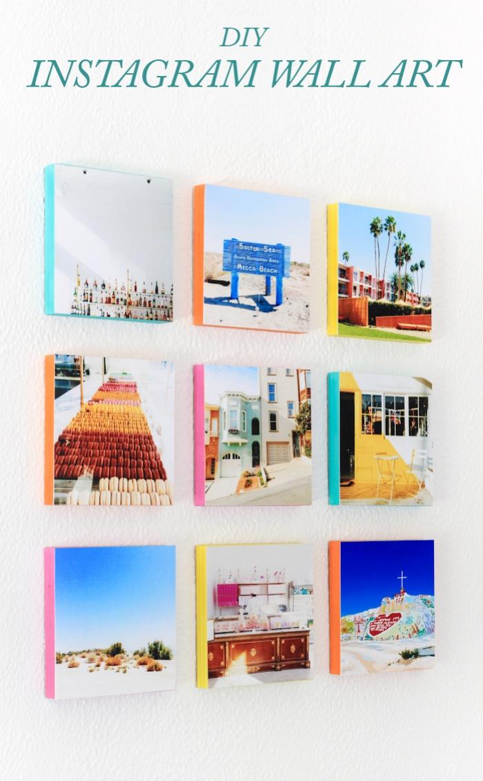 Decorazioni pareti moderne, fotografie su parete, foto di instagram