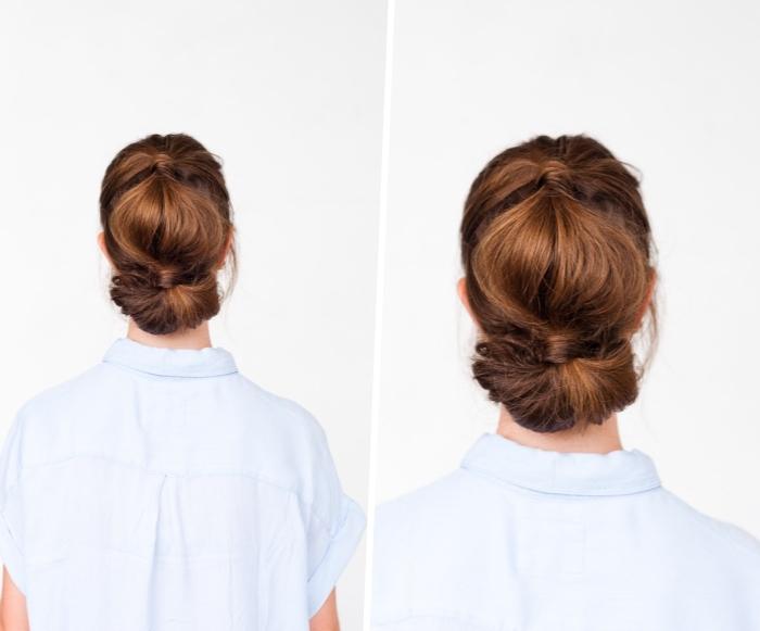 Acconciature belle, capelli legati, pettinatura con coda
