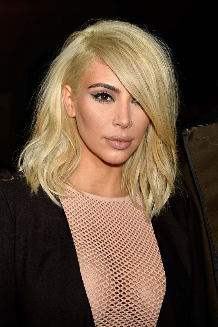 Schiarente capelli, Kim Kardashian con capelli biondi