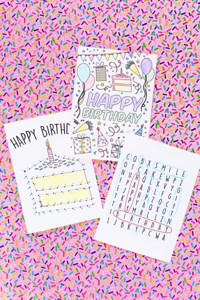 Come scrivere un biglietto di auguri, disegni di palloncini, trovare le parole