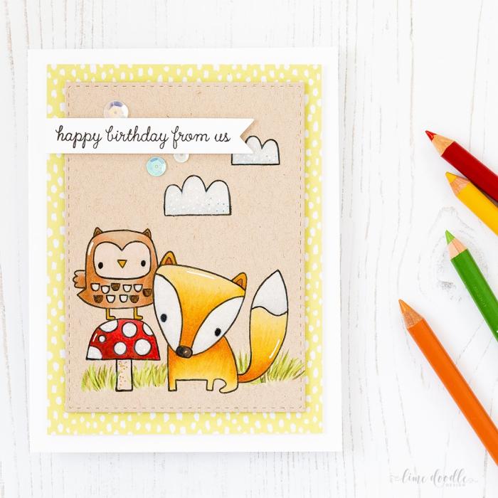 Buon compleanno personalizzato gratis, cartolina con disegni. disegni di animali
