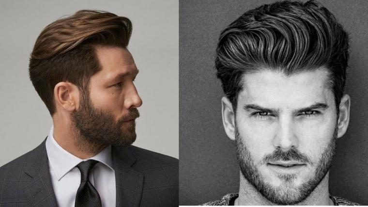 Taglio laterale rasato, capelli rasati uomo, uomo con barba