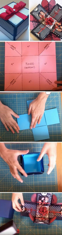 Scatola regalo con foto, tutorial come fare una scatola di carta con foto