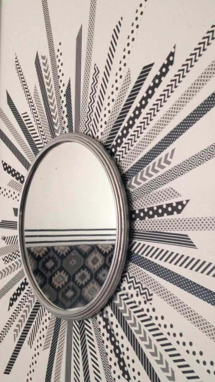 Specchio rotondo, adesivi per muro, decorazioni per i muri