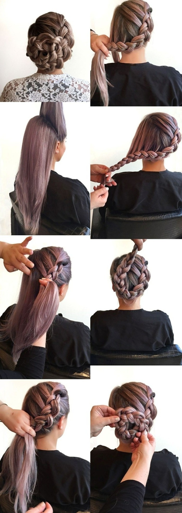 Tutorial per fare la treccia, treccia laterale, capelli lunghi