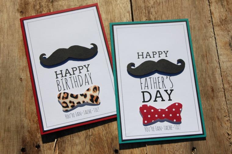 Cartolina stampata, scritta per il papà, regalo giorno del papà