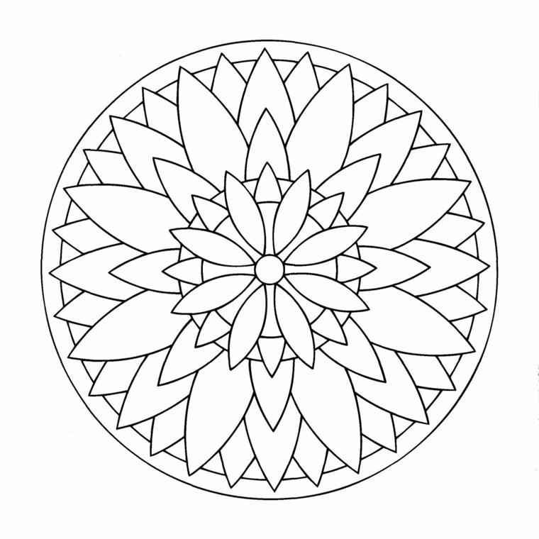 Mandala significato simbologia, disegni di fiore in un cerchio