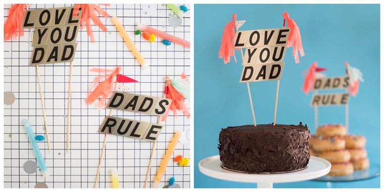 Scritte su bastoncini di legno, lavoretti papà scuola primaria, torta di cioccolato