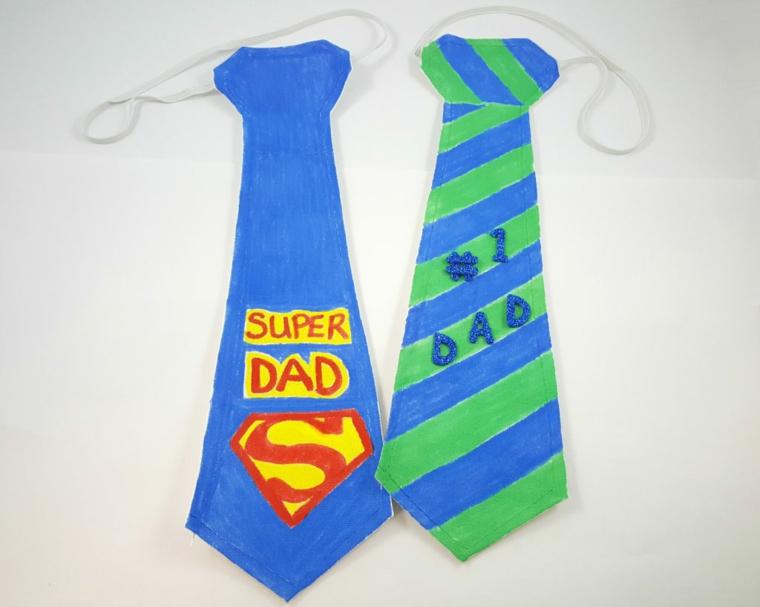 Cravatta di carta, disegno di superman, regalo per il giorno del papà