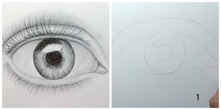 Impara a disegnare, disegno di un occhio, come disegnare un occhio
