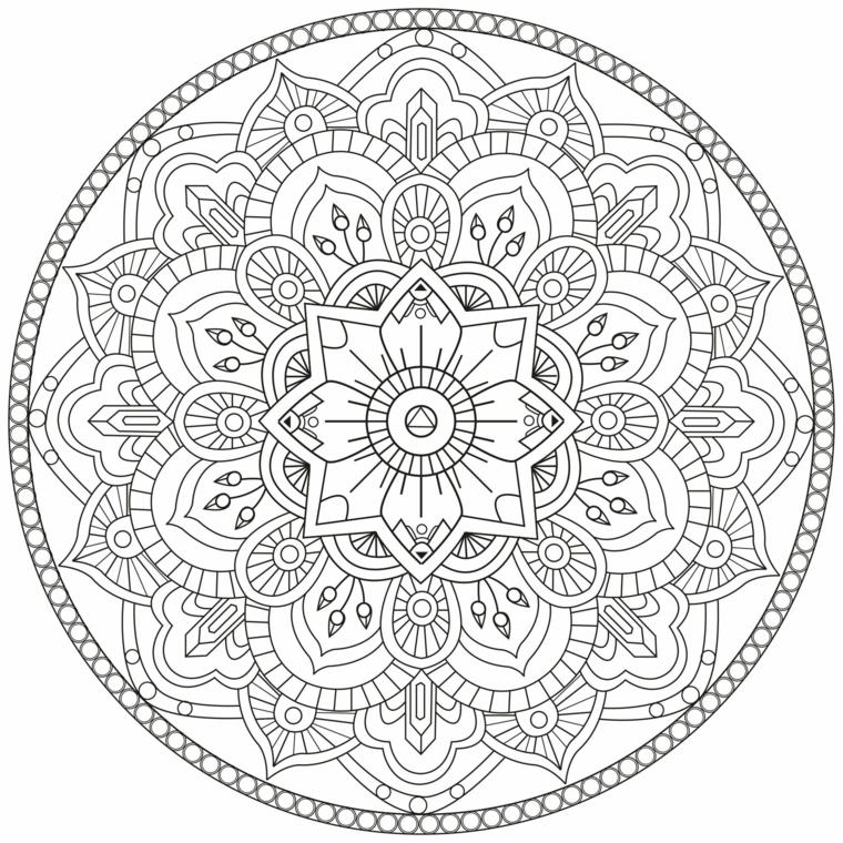 Mandala significato, disegni di fiori, cerchio con due linee