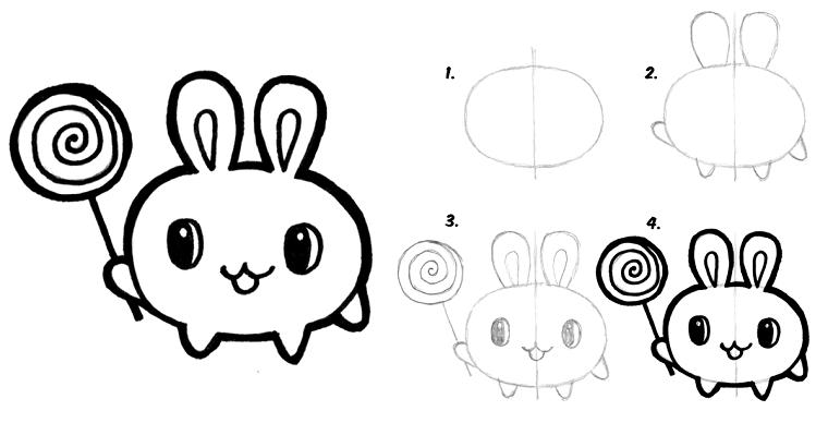 Disegni belli e facili, come disegnare un animaletto, tutorial disegno a matita