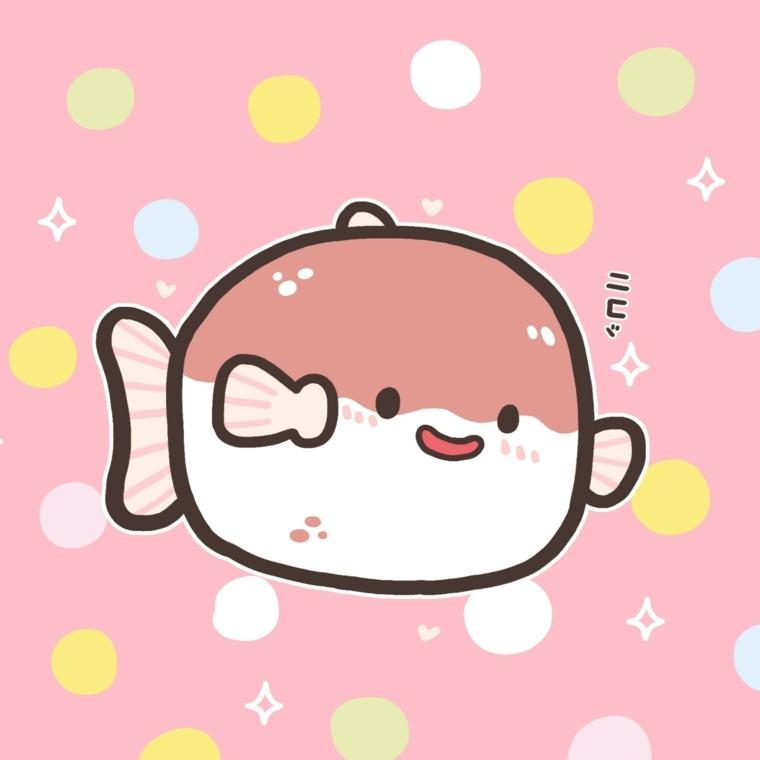 Immagine con sfondo rosa, disegno di un pesciolino, disegni facili da disegnare