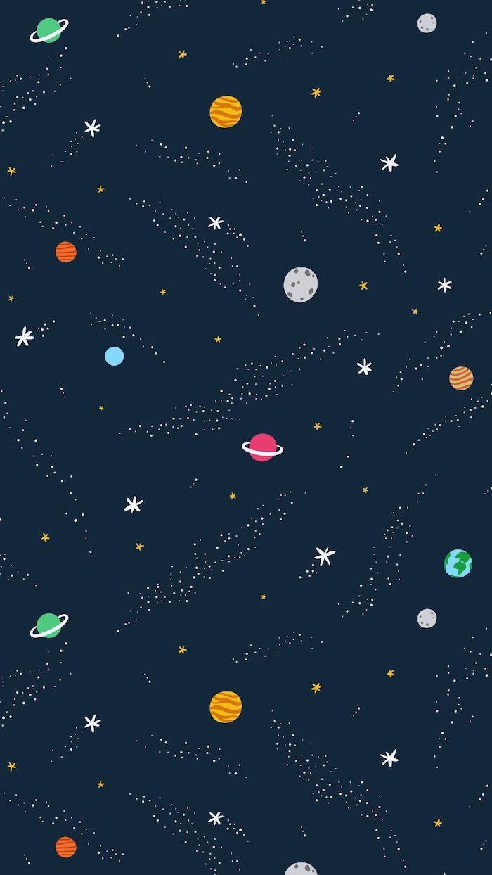 Immagini sfondi tumblr, disegno grafico, disegni di pianeti e stelle