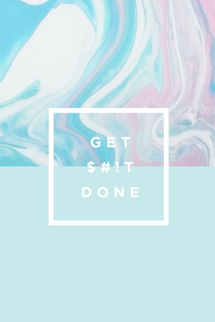 Foto artistiche tumblr, quadrato con scritta, macchie di colore blu