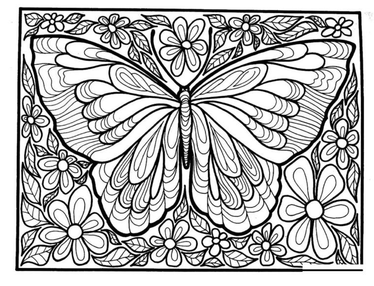 Tipi di mandala, disegno di un mandala semplice, disegno di una farfalla