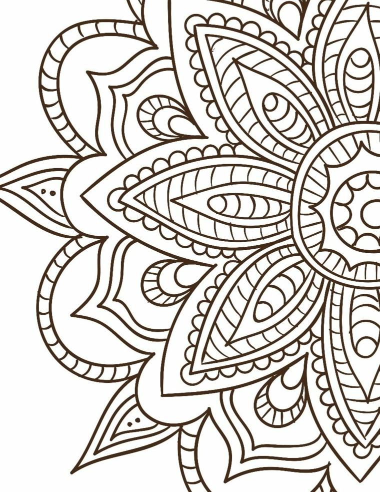 Mandala significato simbologia, disegno con motivi ornamentali