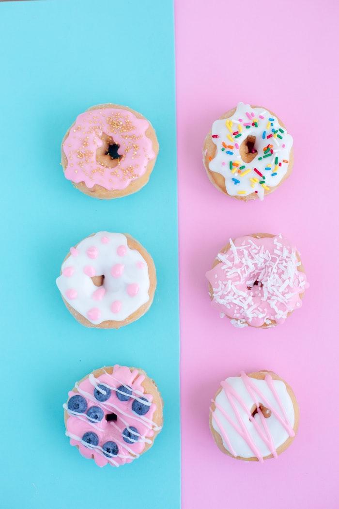 Fotografia di ciambelle colorate, tumblr backgrounds