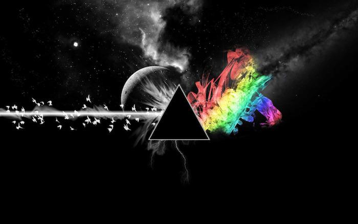 Disegni tumblr, disegno colorato astratto, triangolo e macchie colorate