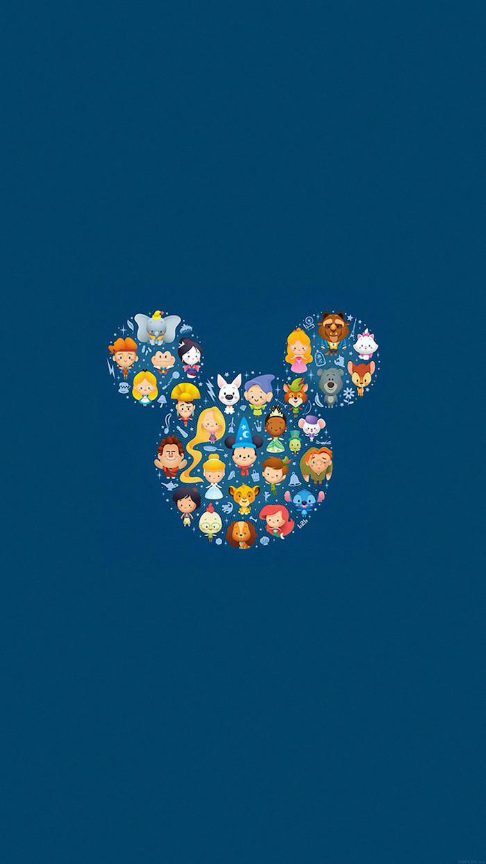 Sfondi cellulare tumblr, sfondo foto colore blu, simbolo della Disney