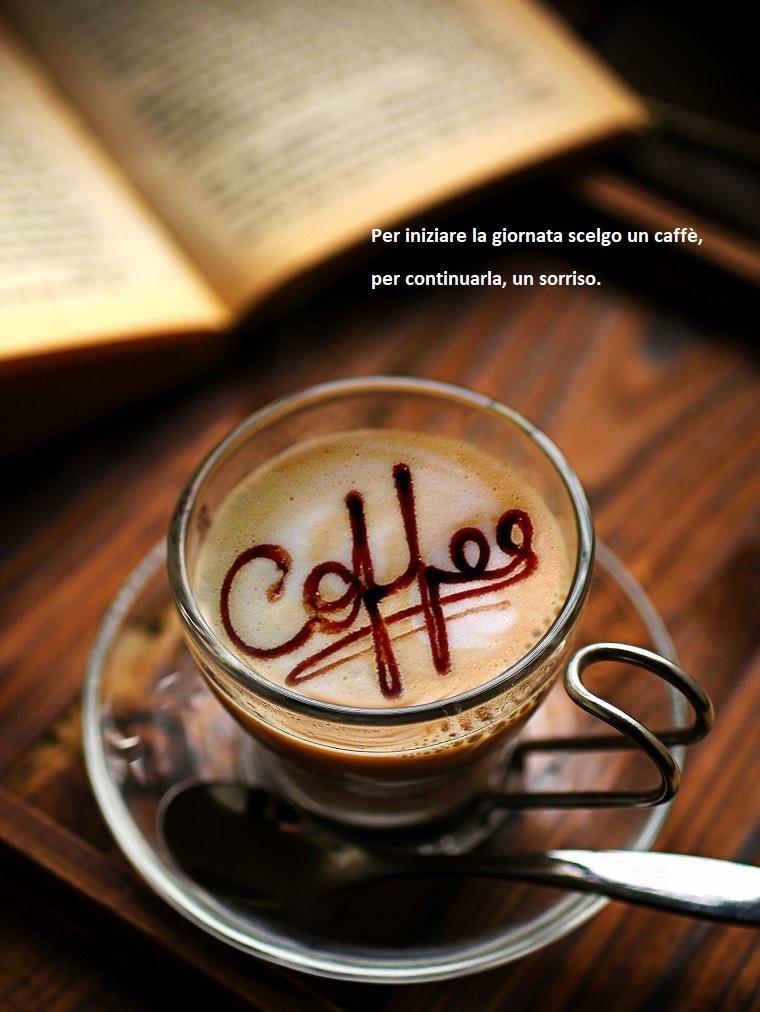 Buongiorno frasi e immagini, tazza di vetro, tazza di caffè