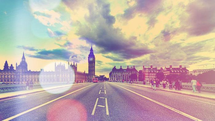 La città di Londra, wallpaper tumblr, cielo con nuvole