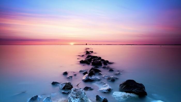 Tumblr backgrounds, fotografia del mare, scogli con acqua