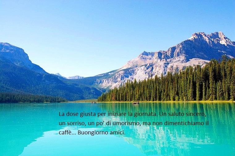 Immagini con frasi significative, lago con montagna. foto con citazione