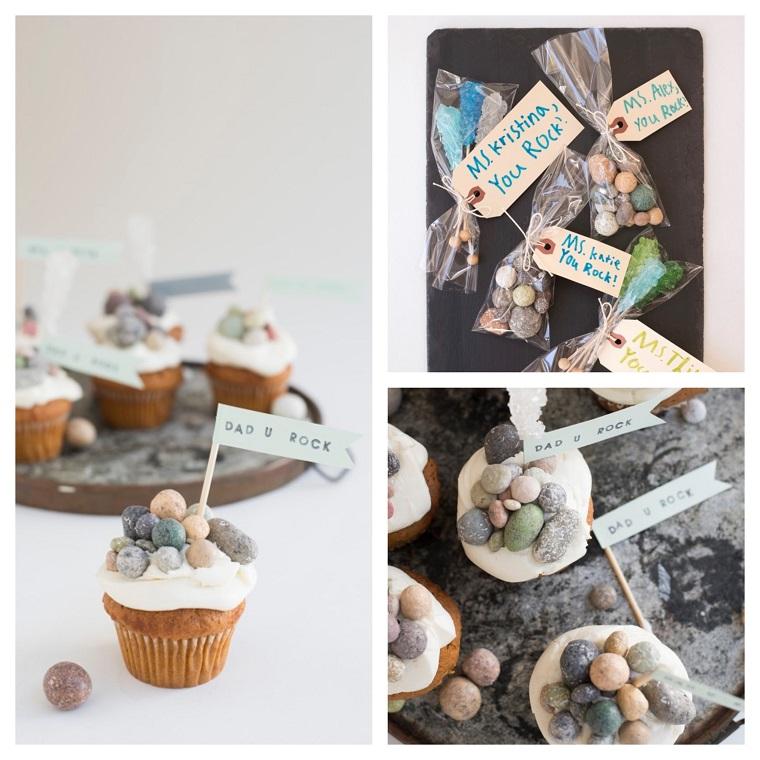 Cosa regalare per la festa del papà, muffin con cioccolatini, bigliettino con auguri