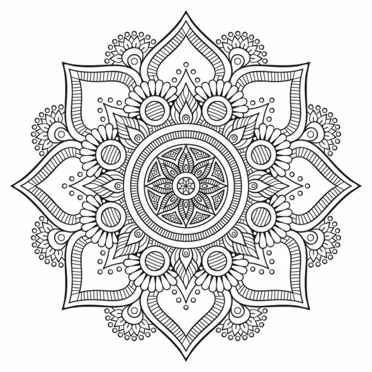 Mandala significato simbologia, ornamenti con piccoli cerchi