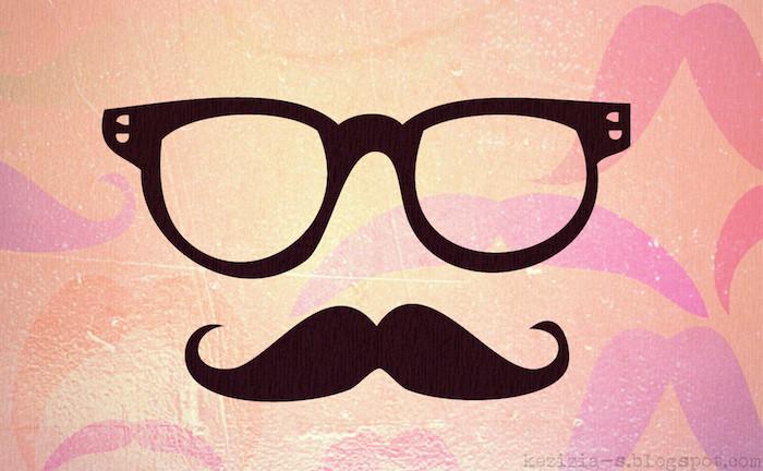 Disegni tumblr, occhiali da vista colore nero, foto con sfondo rosa