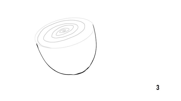 Fiori facili da disegnare, cerchio a spirale, schizzo su foglio bianco