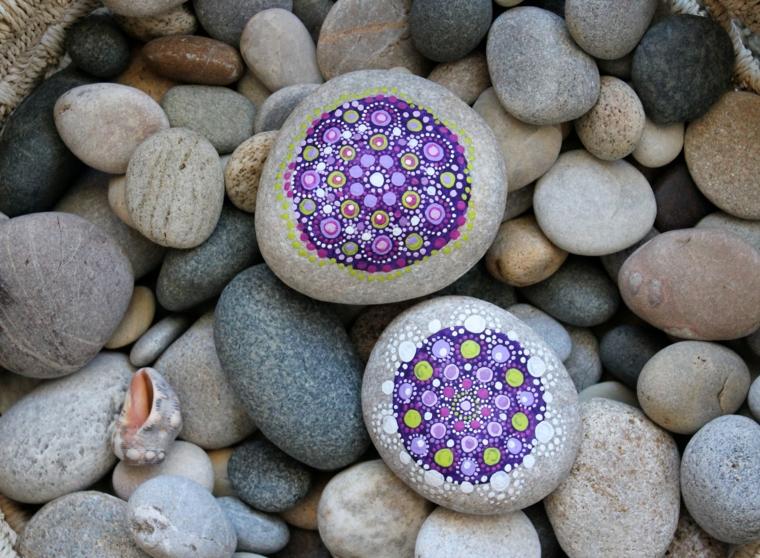 Come disegnare un mandala, sassolini con mandala, disegni su pietre