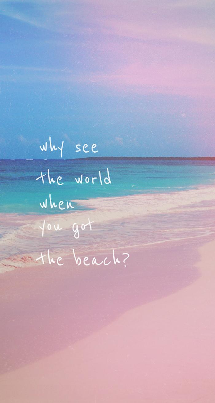 Immagini sfondi tumblr, scritta in inglese, fotografia di una spiaggia