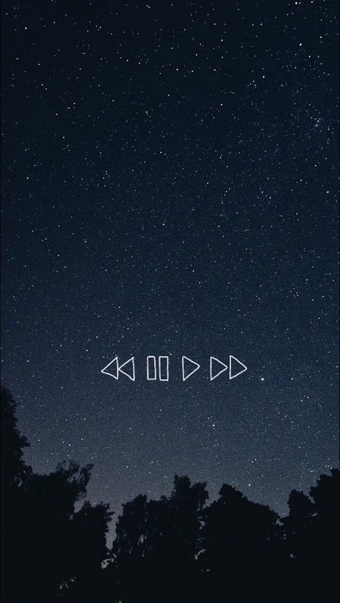 Tumblr backgrounds, fotografia cielo notturno, figure geometriche disegno