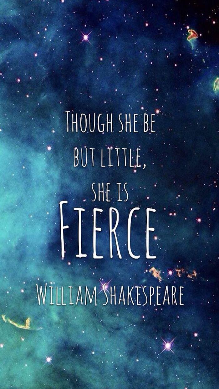 Citazione di William Shakespeare, wallpaper tumblr, sfondo immagine colore blu