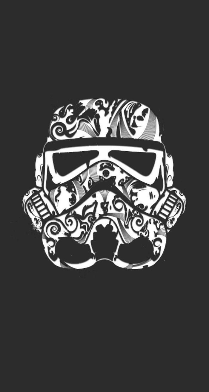 Immagini tumblr sfondi, disegno di star wars, disegno di una maschera
