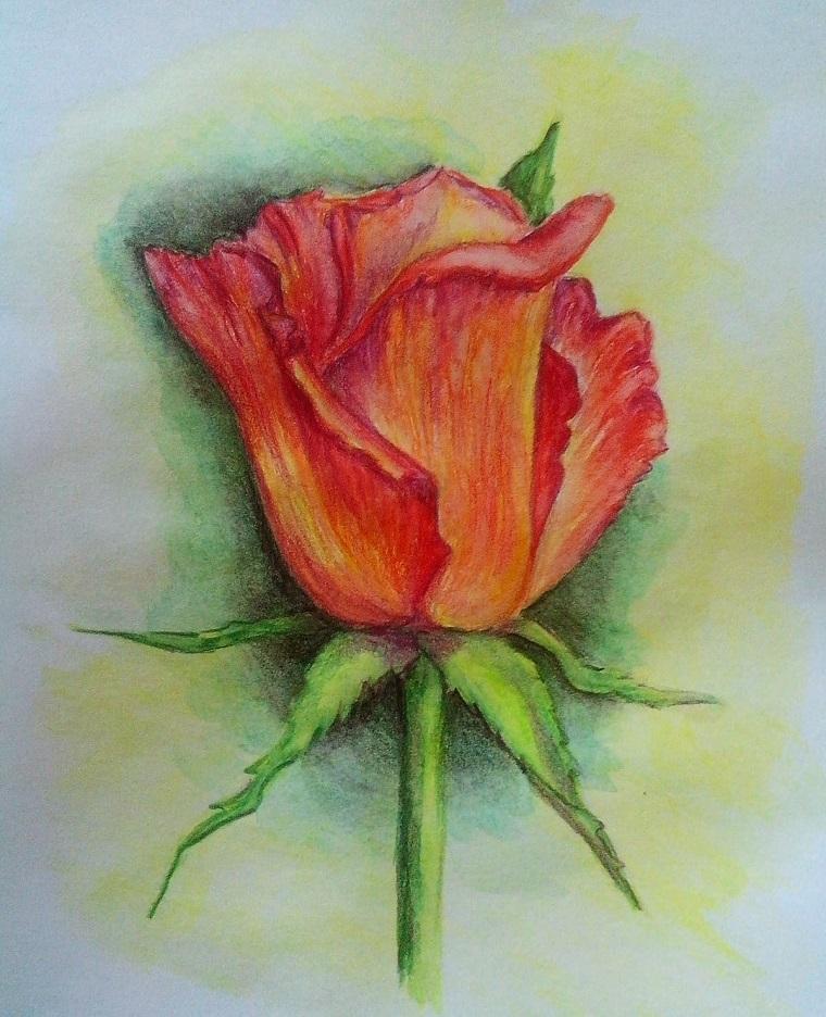 Disegni tumblr facili, disegno con ombre, disegno di un fiore