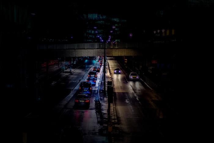 Sfondo per il tablet, autostrada di notte