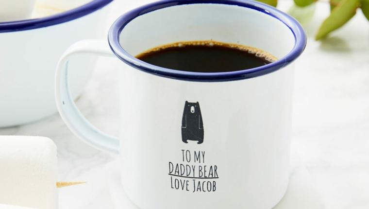 Tazza di metallo, tazza di caffè, regalo per il papà personalizzato