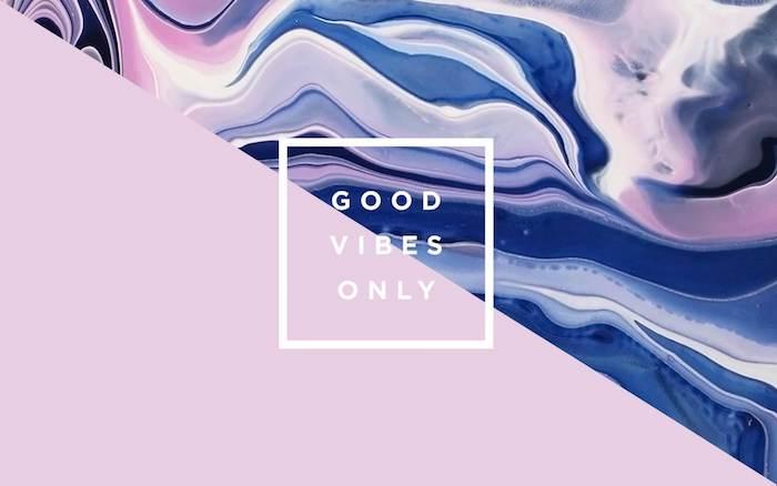 Scritta Good vibes onlu, disegno grafico, sfondo per il cellulare