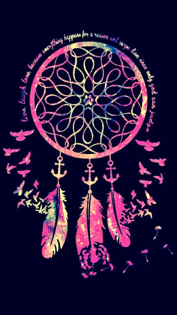 Foto con scritta colorata, effetti foto stile tumblr, disegno acchiappasogni