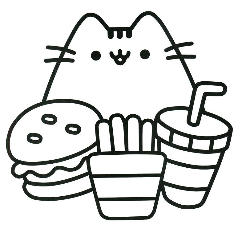 Disegni facili da disegnare, disegno di un animaletto, schizzi di cibo da colorare