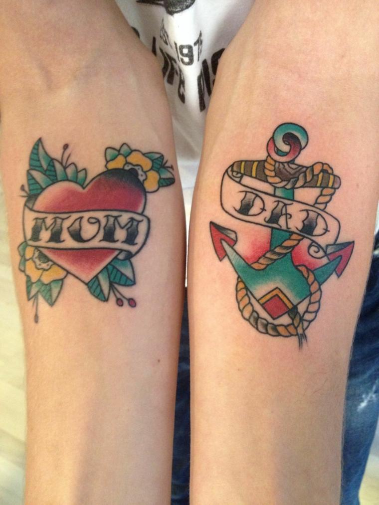 Tatuaggio cuore significato, cuore con scritta, tattoo avambraccio donna, tattoo ancora braccio