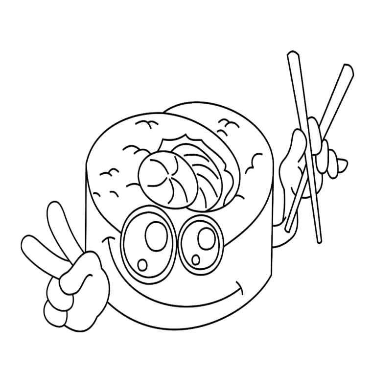 Immagini kawaii, disegno di un tamburo, tamburo con faccina, disegno da colorare