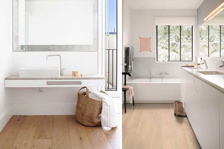 Rivestimento pavimenti, sala da bagno con vasca, pavimento in pvc